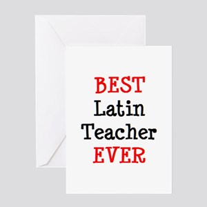 best latin teacher Greeting Card