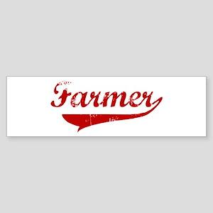 Farmer (red vintage) Bumper Sticker