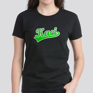 Retro Kaci (Green) Women's Dark T-Shirt