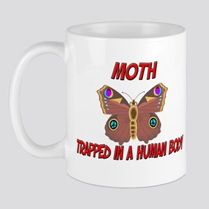 Moth trapped in a human body Mug