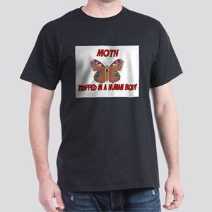 Moth trapped in a human body Dark T-Shirt