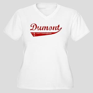 Dumont (red vintage) Women's Plus Size V-Neck T-Sh