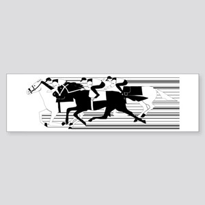 HORSE RACING! Bumper Sticker