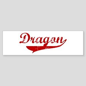 Dragon (red vintage) Bumper Sticker