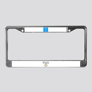 BEING A PARENT IS LIFETIME License Plate Frame