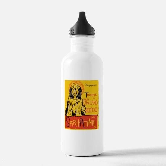 Cute Polish lowland sheepdog Water Bottle