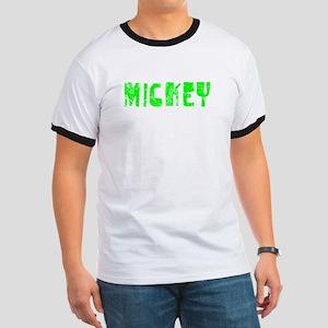 Mickey Faded (Green) Ringer T