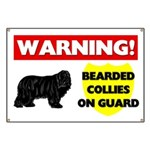 Warning Bearded Collies Banner
