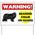 Warning Bearded Collie Yard Sign
