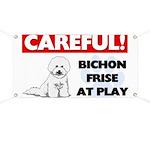Careful Bichon Frise Banner