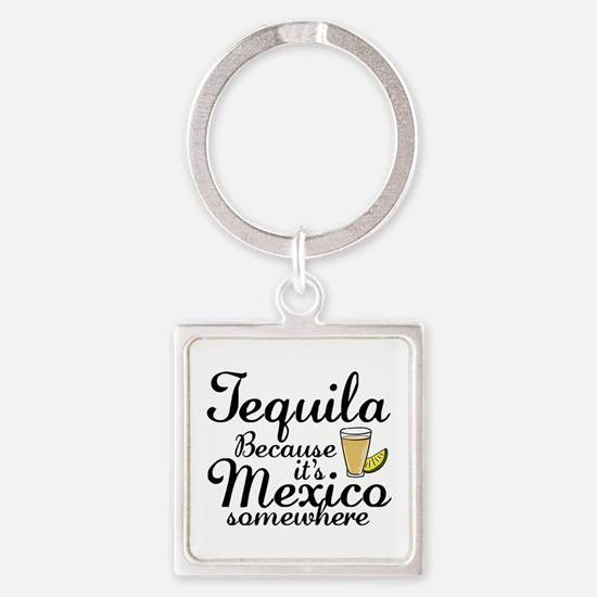 Tequila Square Keychain