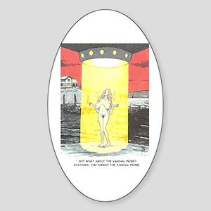 Cartoon art Oval Sticker