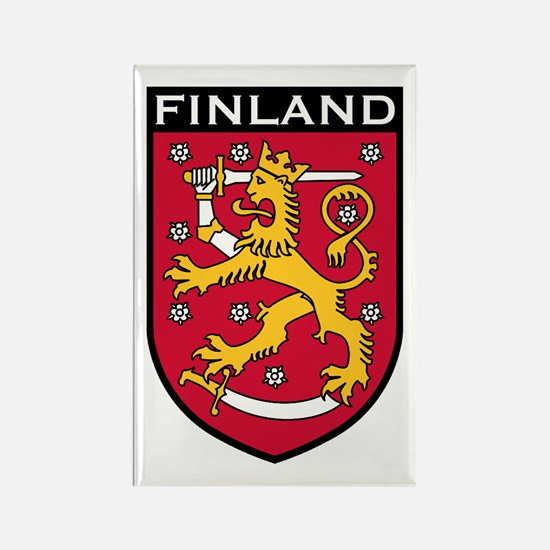 Finland Coat of Arms Rectangle Magnet
