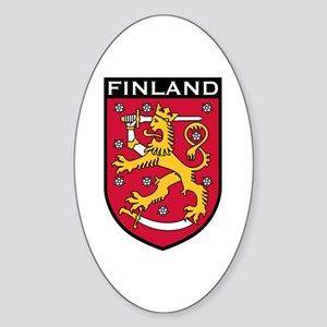 Finland Coat of Arms Oval Sticker