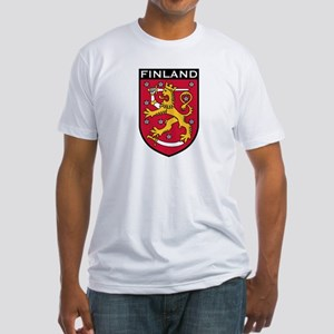 Finland Coat of Arms Fitted T-Shirt