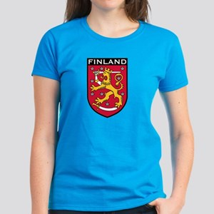 Finland Coat of Arms Women's Dark T-Shirt