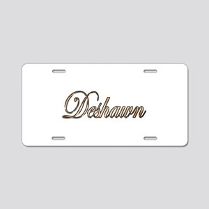 Gold Deshawn Aluminum License Plate