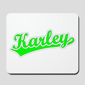 Retro Karley (Green) Mousepad