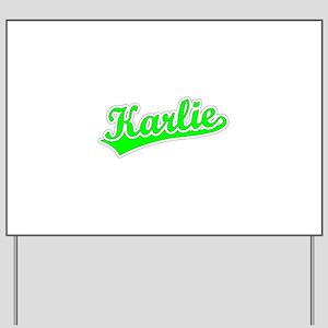 Retro Karlie (Green) Yard Sign