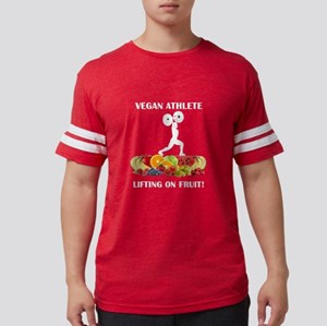 Vegan Athlete Lifting on Fruit T-Shirt