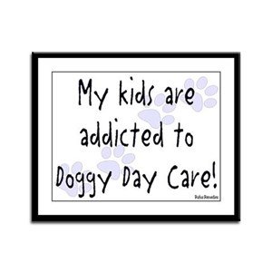 My kids are addicted Framed Panel Print
