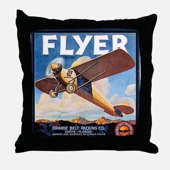The Orange Ad Plane Throw Pillow