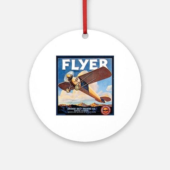 The Orange Ad Plane Ornament (Round)