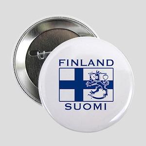 """Finland Suomi Flag 2.25"""" Button"""