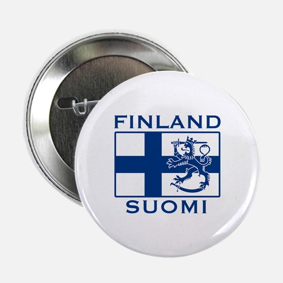 "Finland Suomi Flag 2.25"" Button"