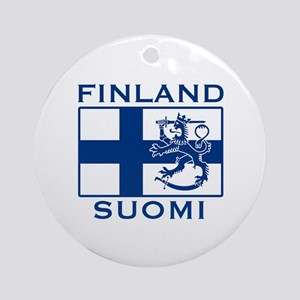 Finland Suomi Flag Ornament (Round)