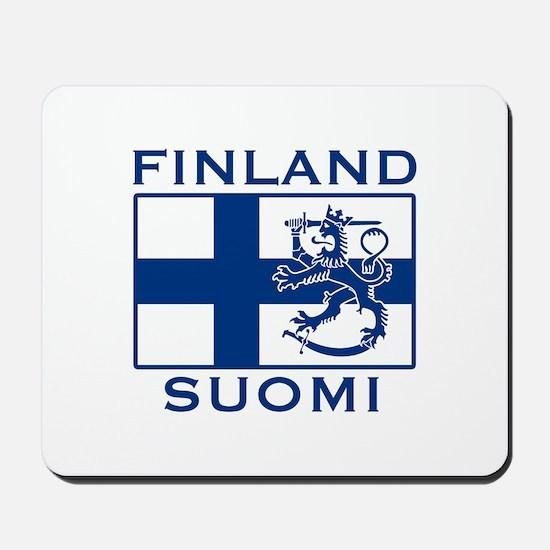 Finland Suomi Flag Mousepad