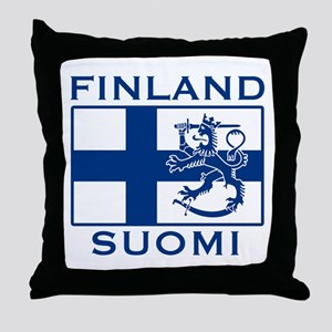 Finland Suomi Flag Throw Pillow