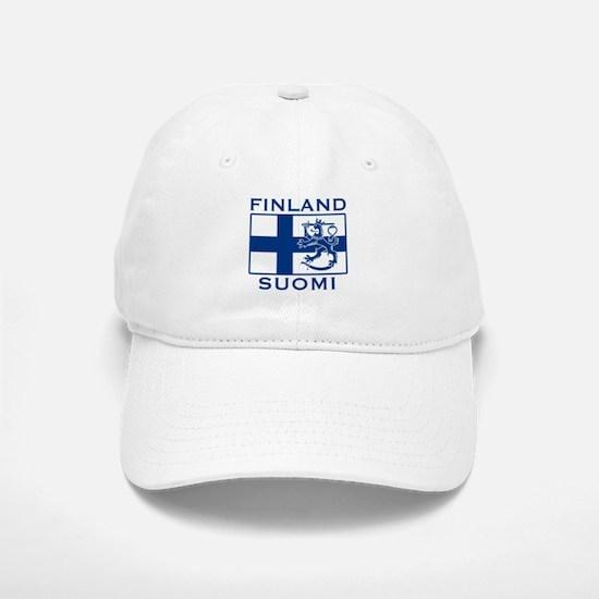 Finland Suomi Flag Baseball Baseball Cap