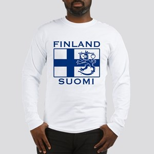 Finland Suomi Flag Long Sleeve T-Shirt