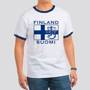 Finland Suomi Flag Ringer T