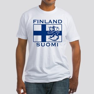 Finland Suomi Flag Fitted T-Shirt