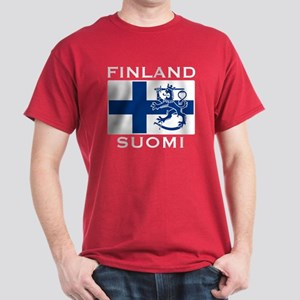 Finland Suomi Flag Dark T-Shirt