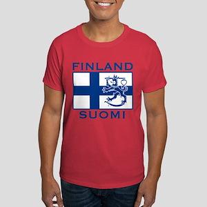 Finland Suomi Flag Dark T-Shirt
