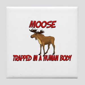 Moose trapped in a human body Tile Coaster