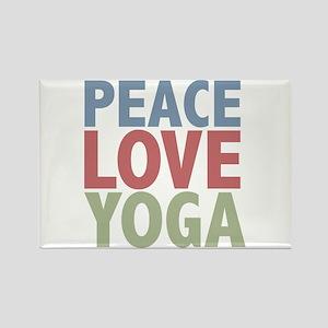 Peace Love Yoga Rectangle Magnet