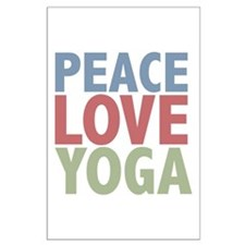 Peace Love Yoga Large Poster