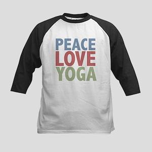 Peace Love Yoga Kids Baseball Jersey