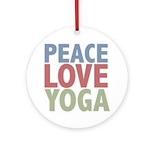 Peace Love Yoga Ornament (Round)