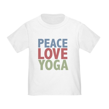 Peace Love Yoga Toddler T-Shirt