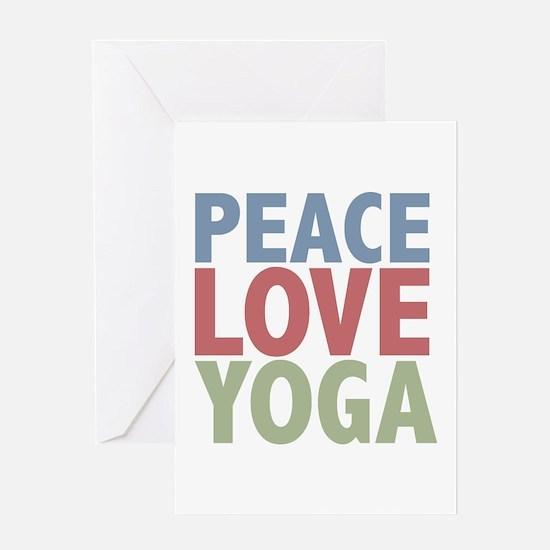 Peace Love Yoga Greeting Card