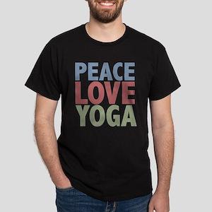Peace Love Yoga Dark T-Shirt