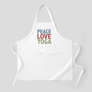 Peace Love Yoga BBQ Apron