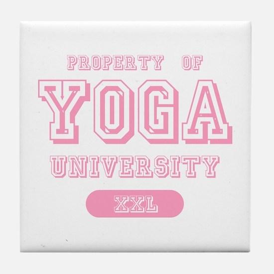 Property Of Yoga University Tile Coaster