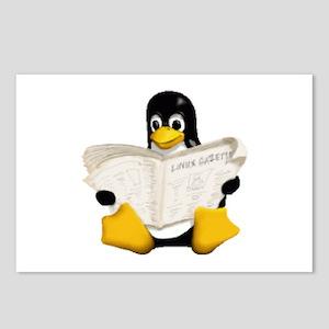 Tux - Linux Penguin Postcards (Package of 8)