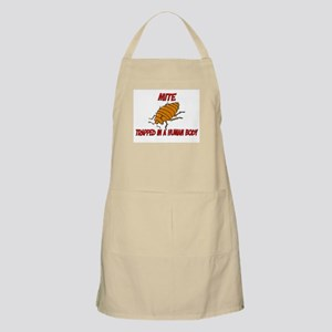 Mite trapped in a human body BBQ Apron